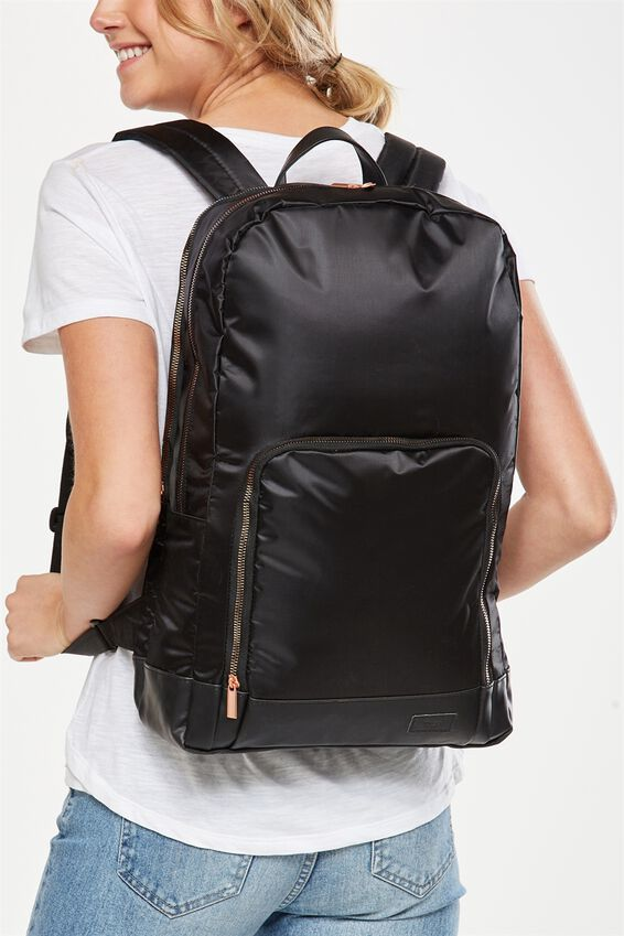Voyager Laptop Backpack, BLACK LUXE