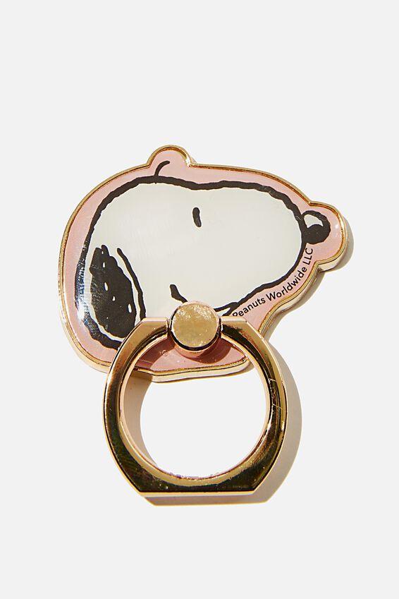 Snoopy Metal Phone Ring, LCN PEA SN SNOOPY