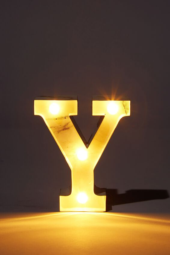 Mini Marquee Letter Lights 10cm, MARBLE Y