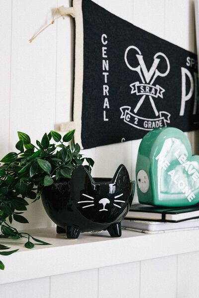 Small Shaped Planter, BLACK CAT 2.0