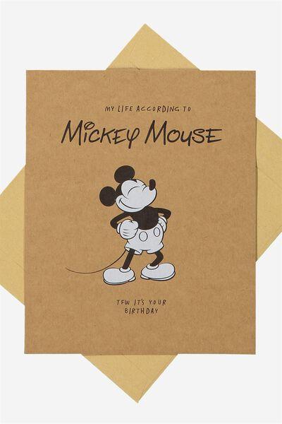 Nice Birthday Card, LCN MICKEY LIFE