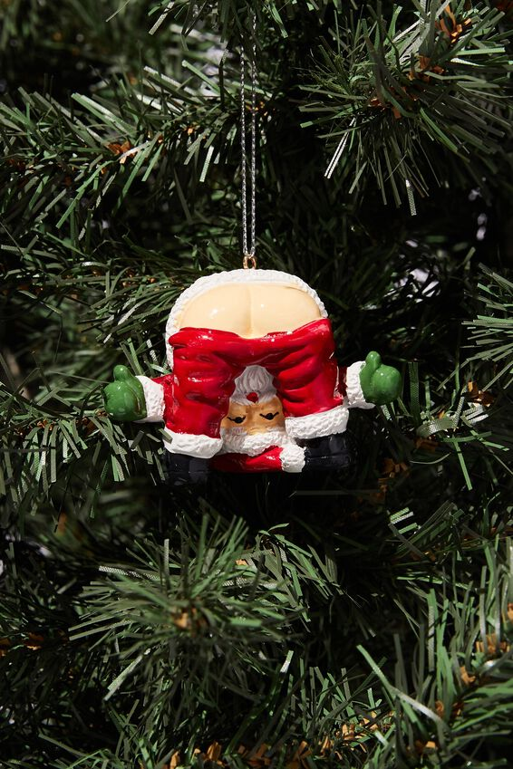 Resin Christmas Ornament, SANTA BUM LEGS!