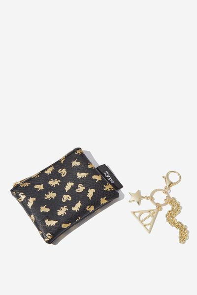 Coin Purse And Bag Charm Set, LCN WB HPO HOGWARTS HOUSES