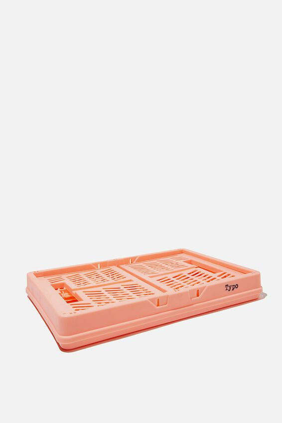 Midi Foldable Storage Crate, PEACH CANDY