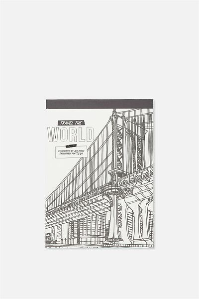 Post Card Colouring Book, TRAVEL THE WORLD