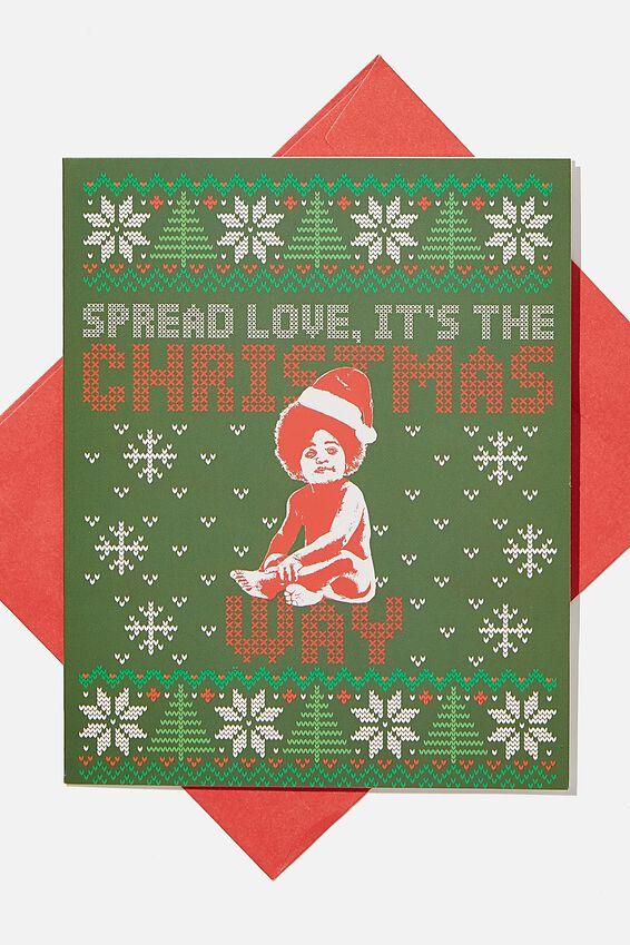 Biggie Smalls Christmas Card 2020, LCN MT BIGGIE SPREAD LOVE