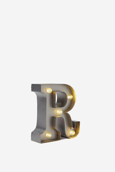 Mini Marquee Letter Lights 10cm, SILVER R