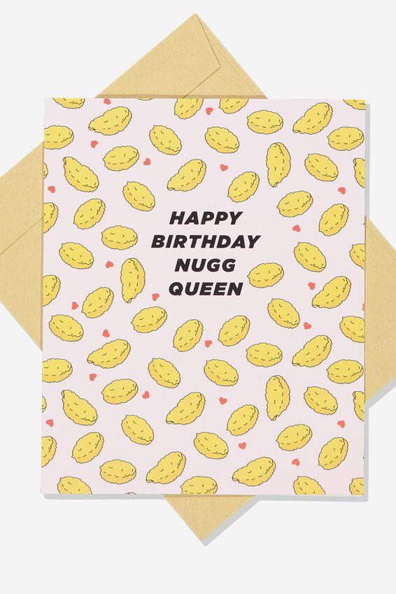 Premium Funny Birthday Card, SCENT NUGG QUEEN