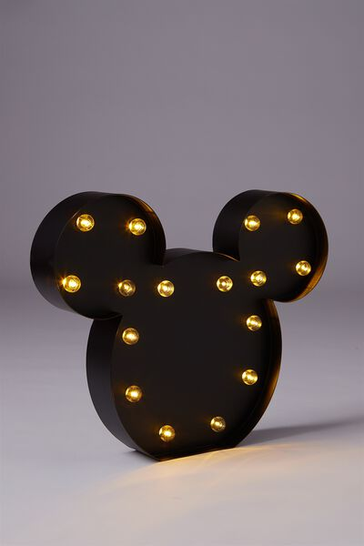 Large Marquee Light, LCN MICKEY MOUSE BLACK