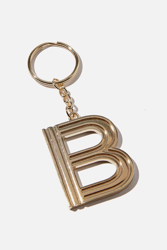 Alphabet Keyring, GOLD GRID B