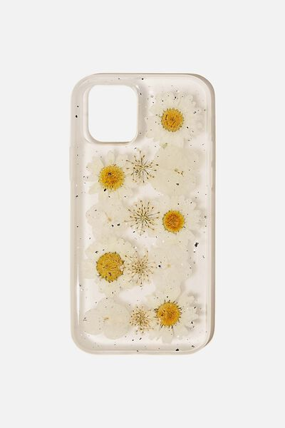 Snap On Protective Phone Case Iphone 12, 12 Pro, TRAPPED DAISY