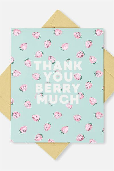 Thank You Card, THANK YOU BERRY MUCH