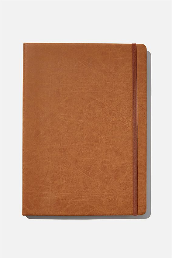 A4 Blank Buffalo Journal, MID TAN