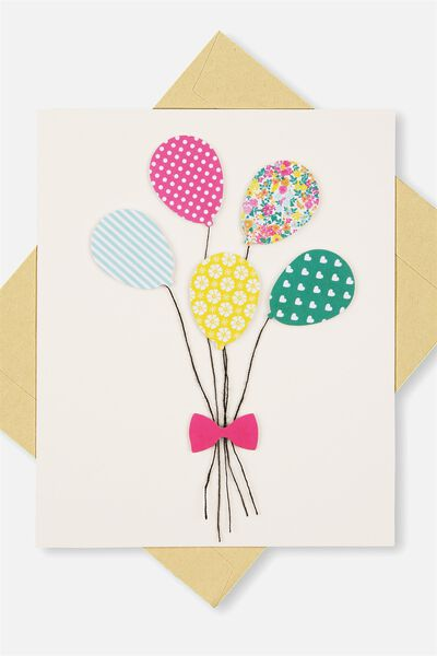 Embellishment Card BL BALLOONS
