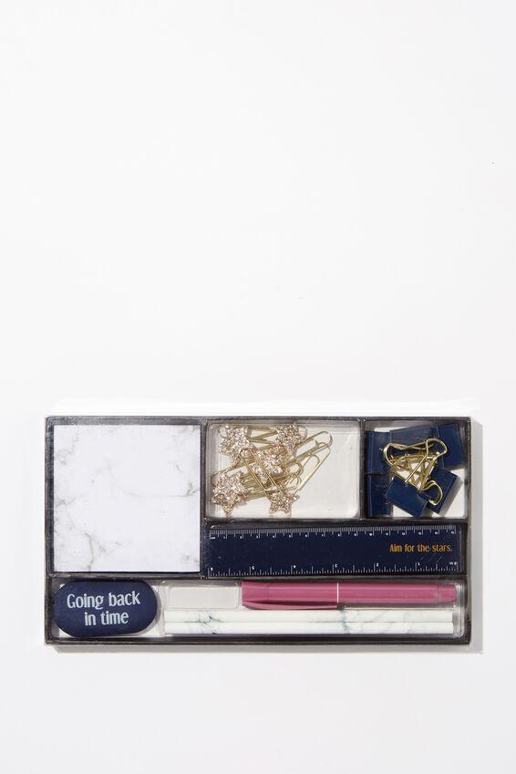 Desk Set, WHITE MARBLE AND STARS