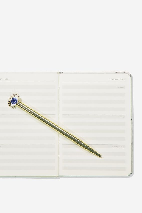 2020 A6 Weekly Buffalo Diary, WHITE MARBLE