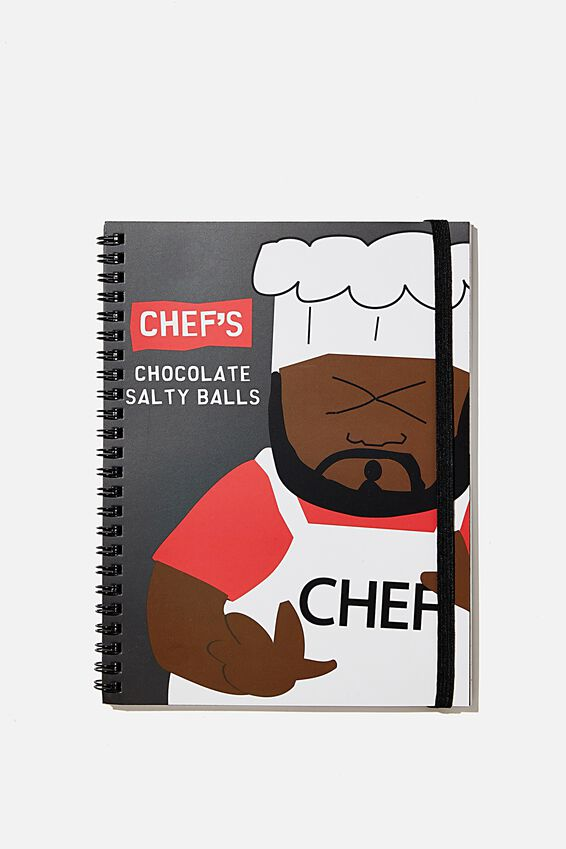A5 South Park Spinout Notebook Recycled, LCN SOU CHEFS CHOC SALTY BALLS