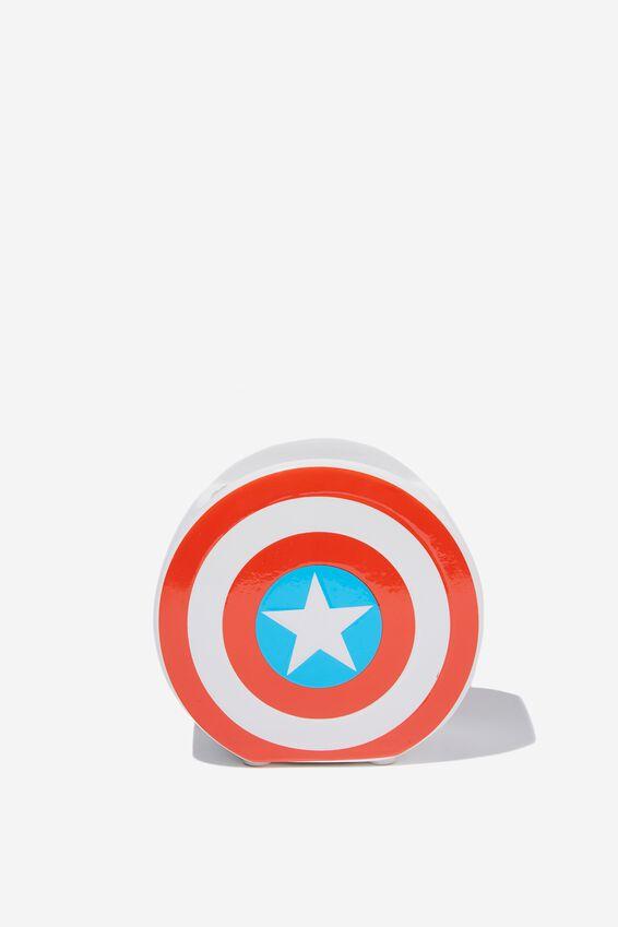 Marvel Pen Holder, LCN MAR CAPTAIN AMERICA SHIELD