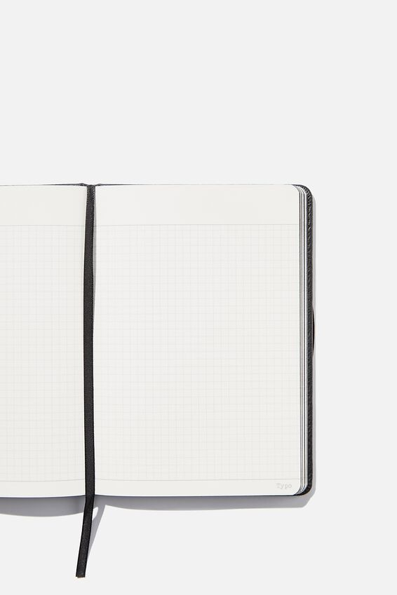 A5 Buffalo Journal Grid Internal, BLACK