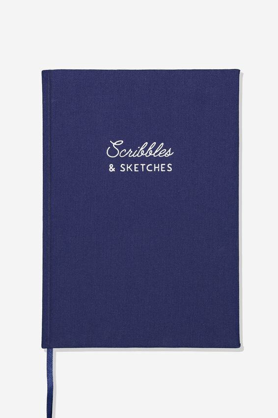 A4 Sketch Notebook, NAVY