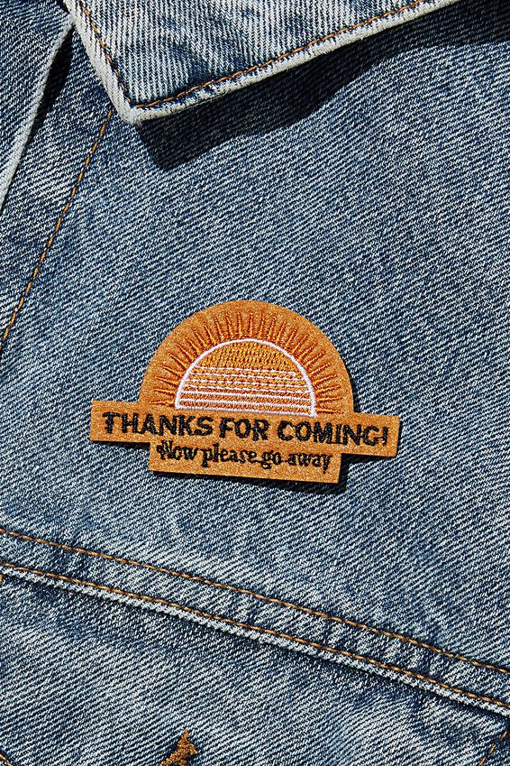 Fabric Badge, THANKS FOR COMING