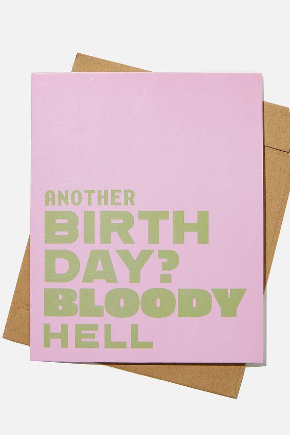Funny Birthday Card, RG BLOODY HELL!