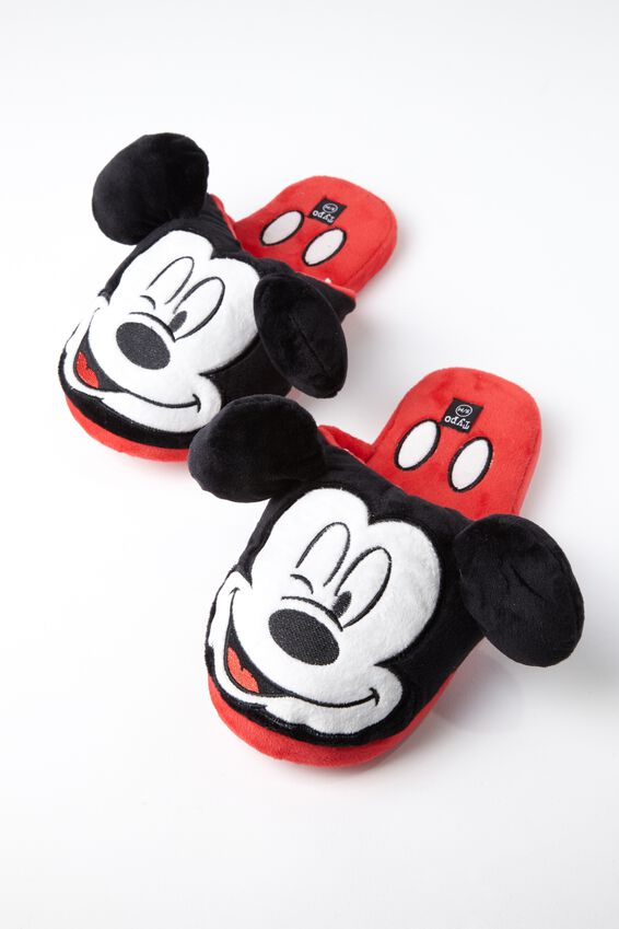 Mickey Novelty Slippers, LCN MICKEY FACE