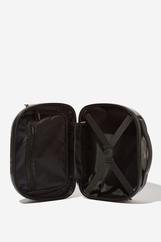 Vanity Cosmetic Case, BLACK MARBLE
