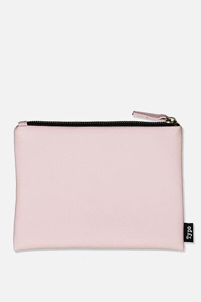 Pu Campus Pencil Case, PEBBLED BLUSH