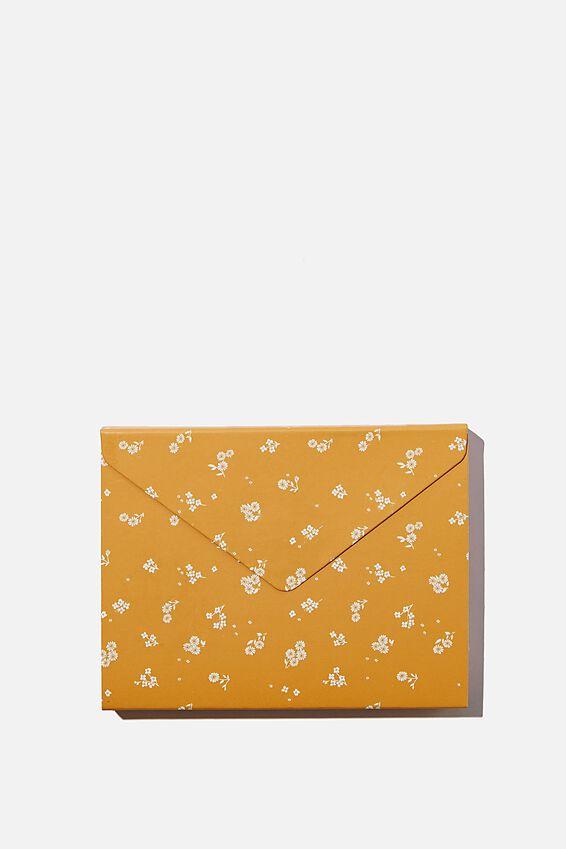 Pocket Sticky Note Set, DOTTIE FLORAL MUSTARD