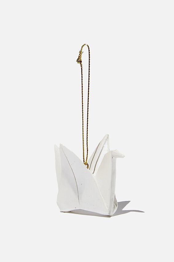Resin Christmas Ornament, PAPER CRANE