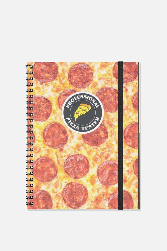 A5 Spinout Notebook - 120 Pages, PIZZA