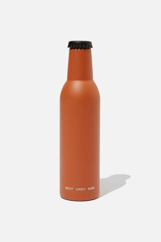 Bottle Top Metal Drink Bottle, RUSSET