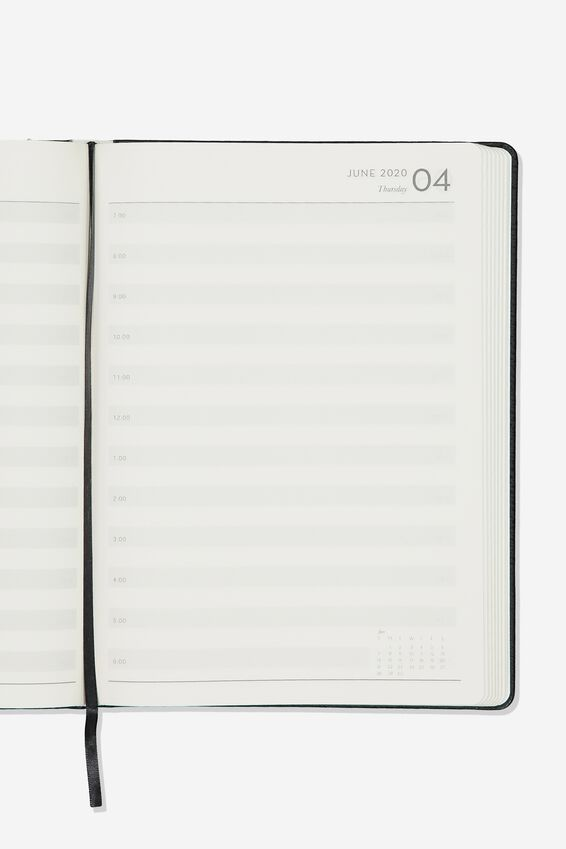 2020 A4 Daily Buffalo Diary, BLACK