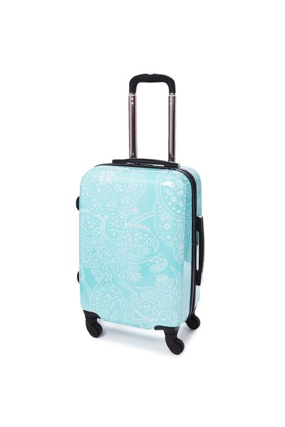 Carry On Suitcase, LIGHT BLUE LACE