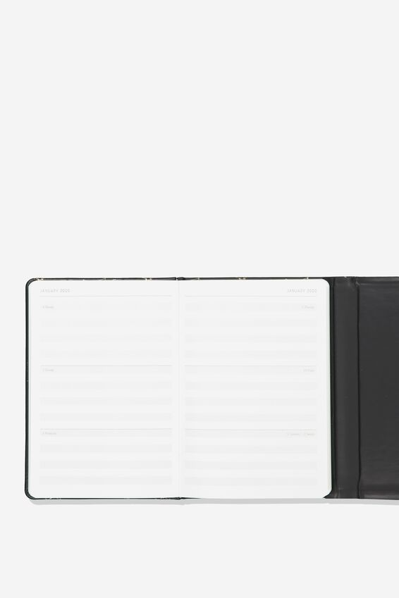 2019 20 18 Month Magnetic Diary, BLACK