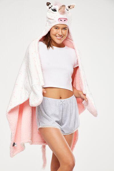 Novelty Hooded Blanket, MAJESTIC UNICORN