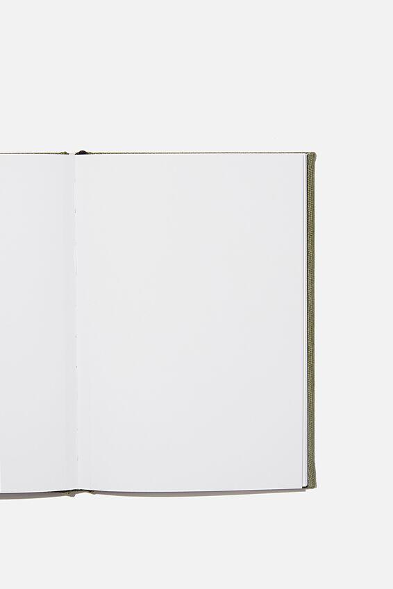 A5 Sketch Notebook, KHAKI CANVAS