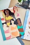 A5 Graduate Journal, GIRL ILLUSTRATED COLLAGE