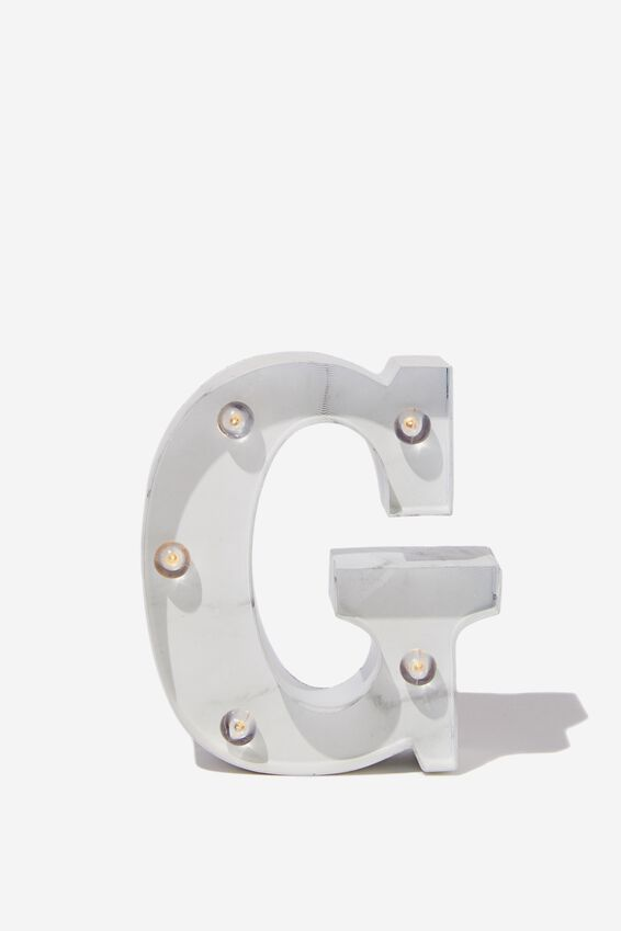 Mini Marquee Letter Lights 10cm, MARBLE G