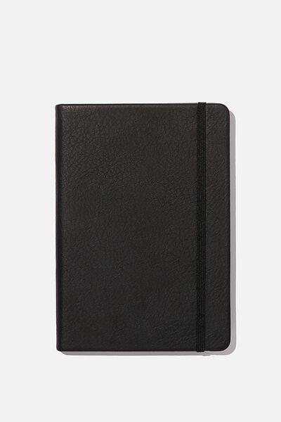 A5 Buffalo Journal Grid Internal, JET BLACK
