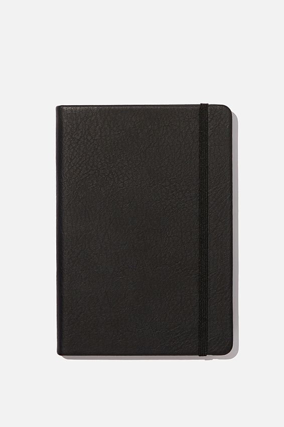 A5 Buffalo Journal Grid Internal, JET BLACK