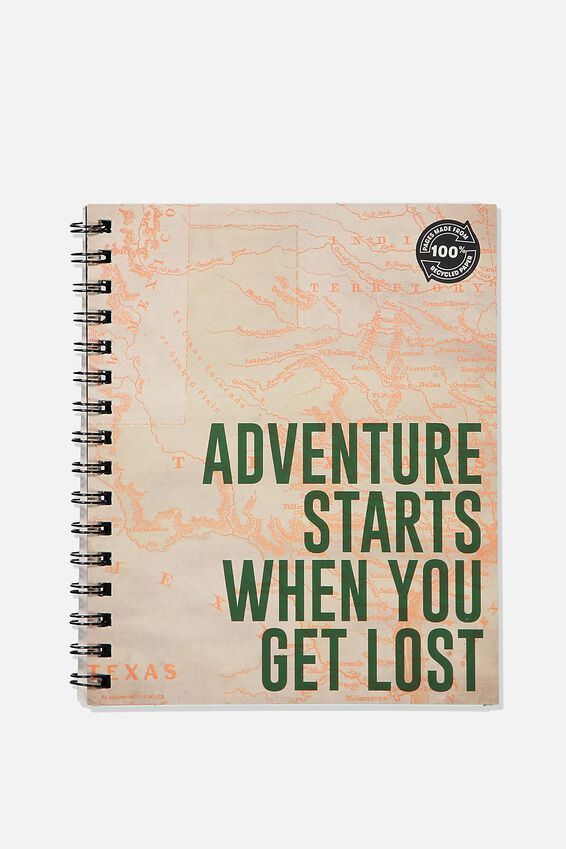 A5 Campus Notebook Recycled, GET LOST