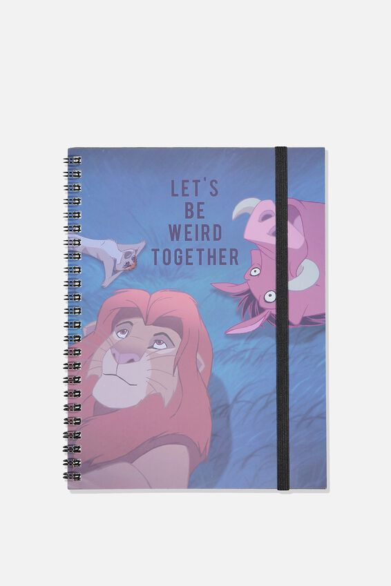 A5 Spinout Notebook - 120 Pages, LCN DIS LION KING WEIRD TOGETHER