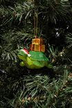 Resin Christmas Ornament, TURTLE WITH PRESENTS