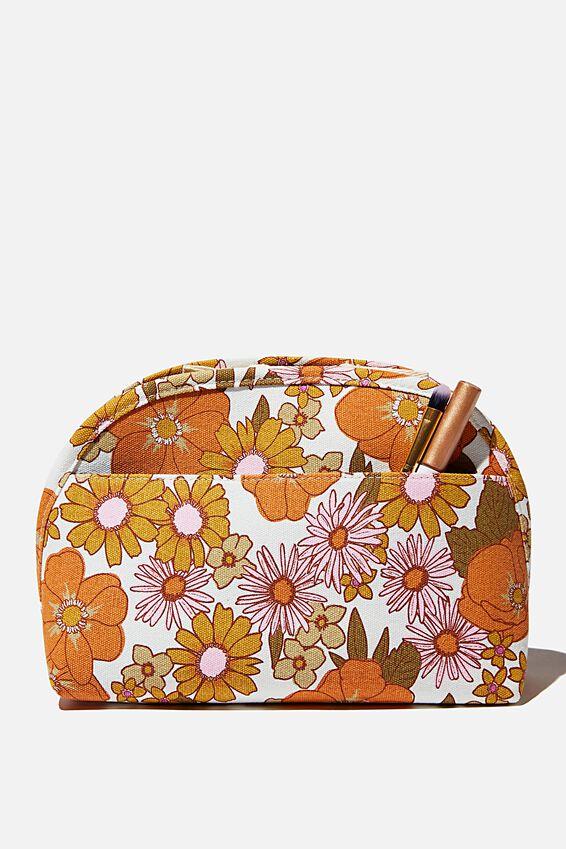 Canvas Essential Pouch, ORANGE & PINK STEVIE FLORAL