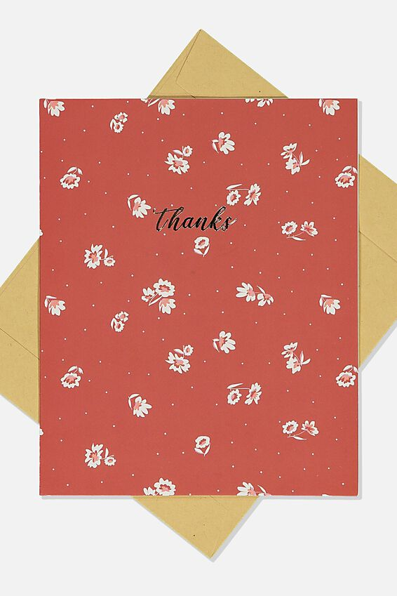 Thank You Card, FLORENCE FLORAL