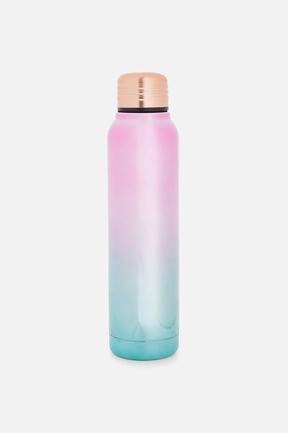 Small Metal Drink Bottle, PASTEL OMBRE ELECTROPLATE