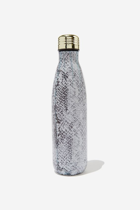 Metal Drink Bottle, SNAKESKIN