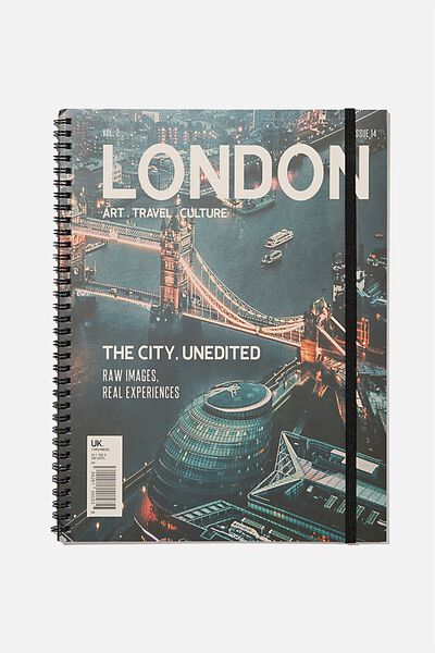 A4 Spinout Notebook Recycled, LONDON MAGAZINE